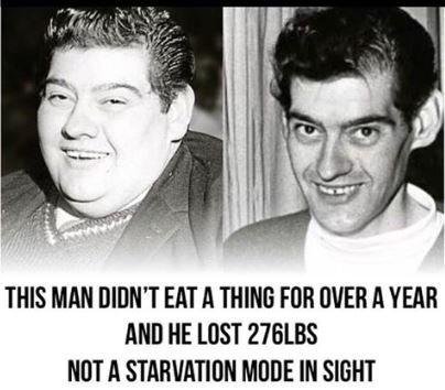 أطول صيام فى التاريخ.. رجل اسكتلندى يمتنع عن الطعام 382 يوم