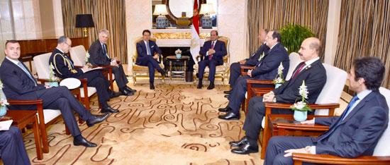 السيسى يلتقى رئيس وزراء إيطاليا (3)