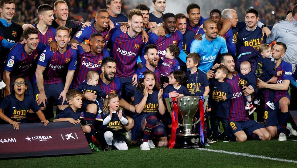 برشلونة بطل الليجا