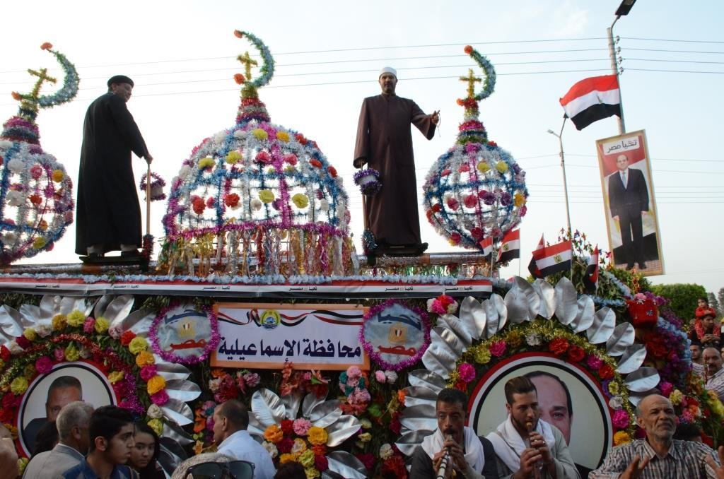 مراسم انطلاق كرنفال عربات الزهور السنوى لاحتفال أعياد الربيع وشم النسيم (5)
