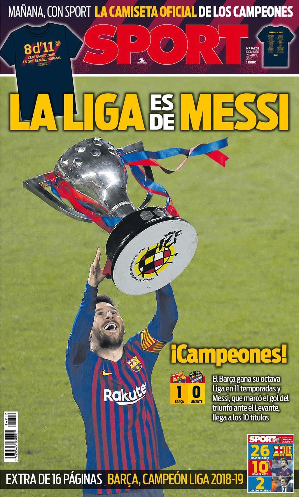 غلاف صحيفة سبورت
