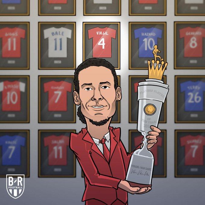 فان ديك أفضل لاعب فى الدوري الانجليزي