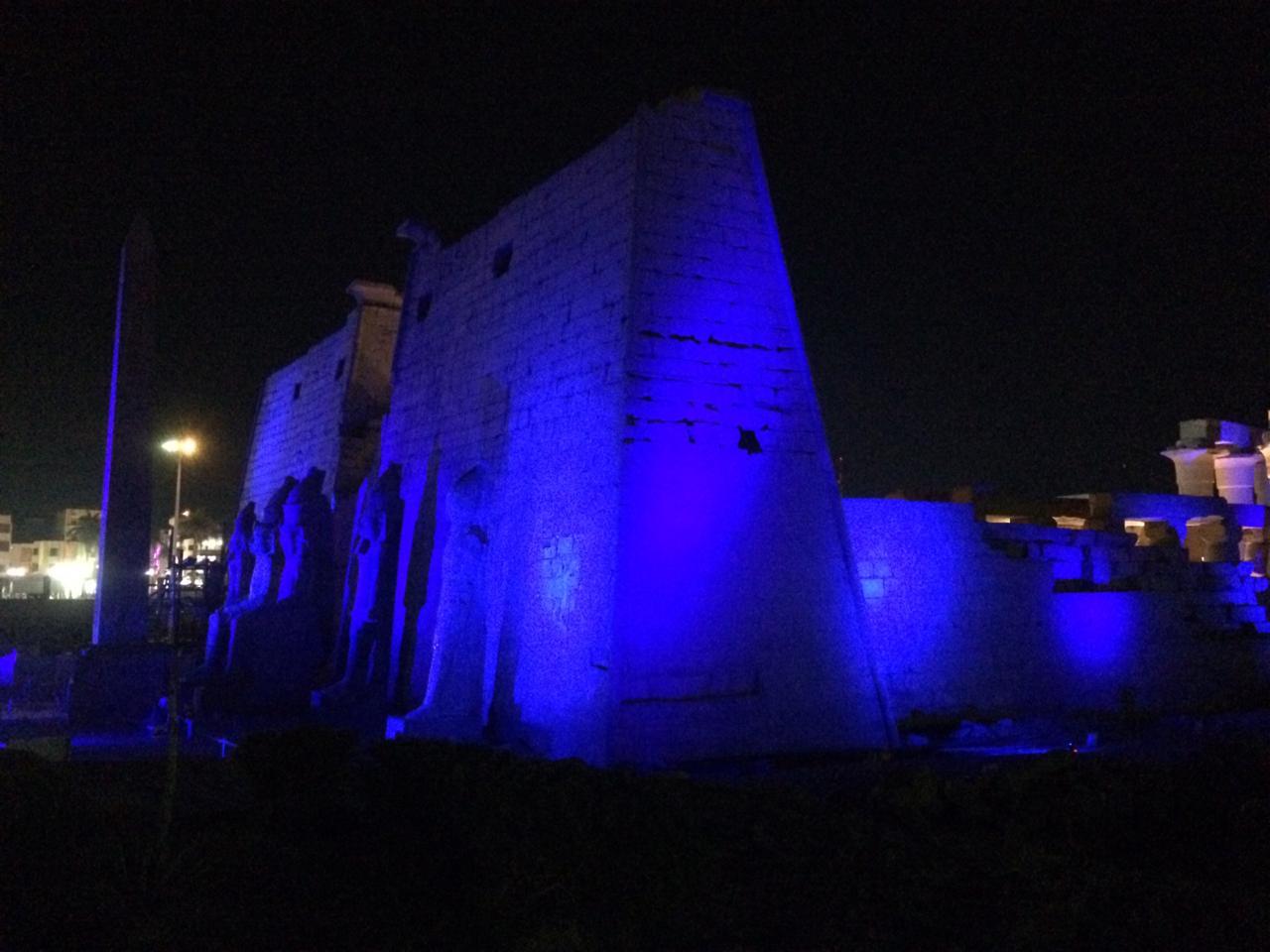 إضاءة معبد الأقصر وطريق الكباش (3)