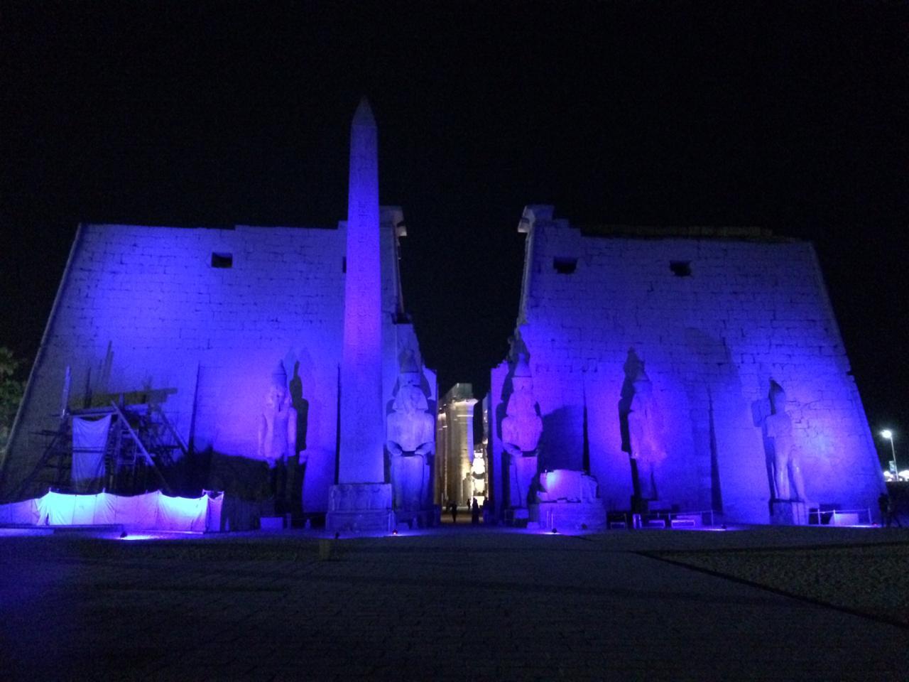 إضاءة معبد الأقصر وطريق الكباش (8)