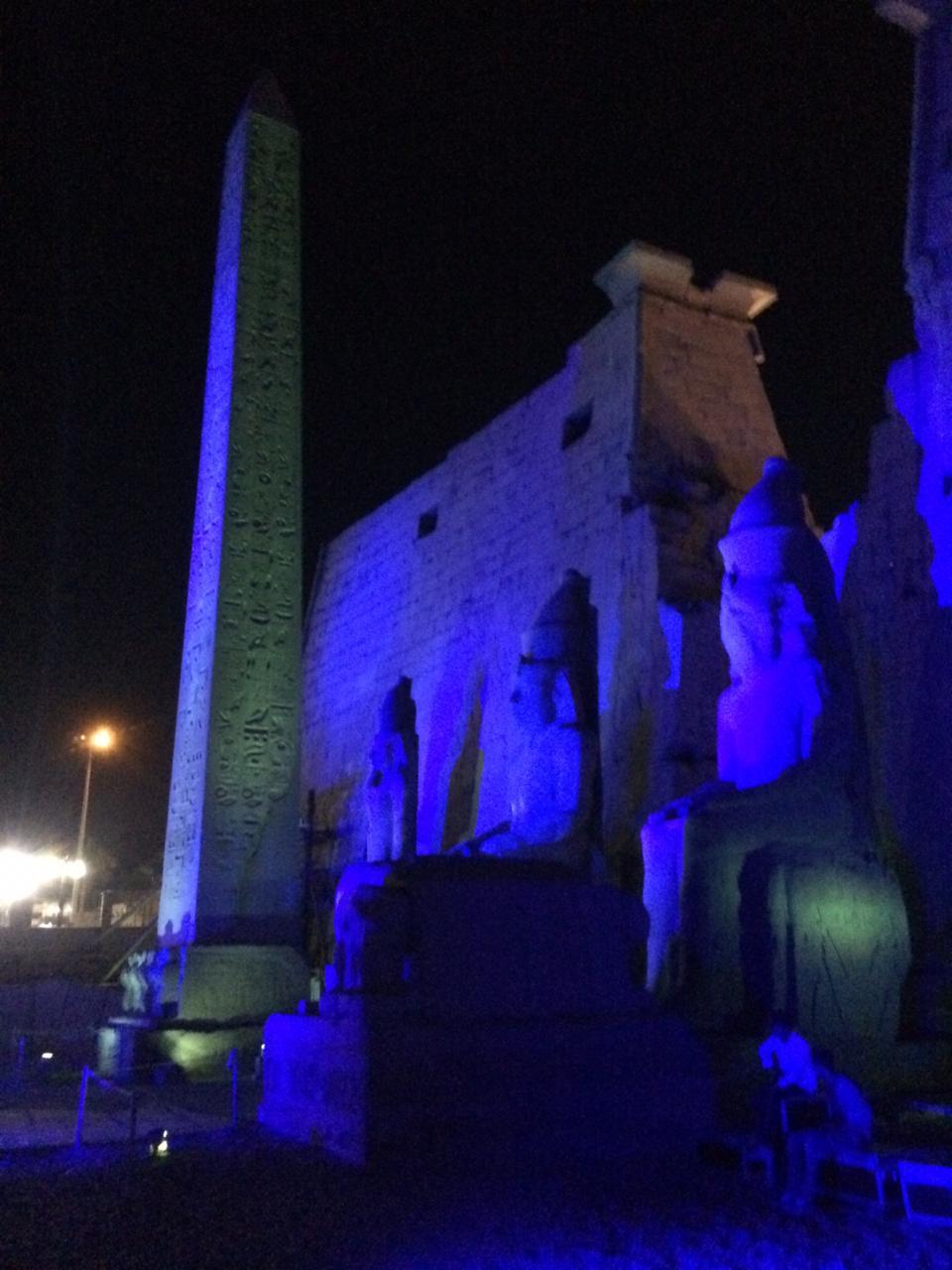 إضاءة معبد الأقصر وطريق الكباش (2)