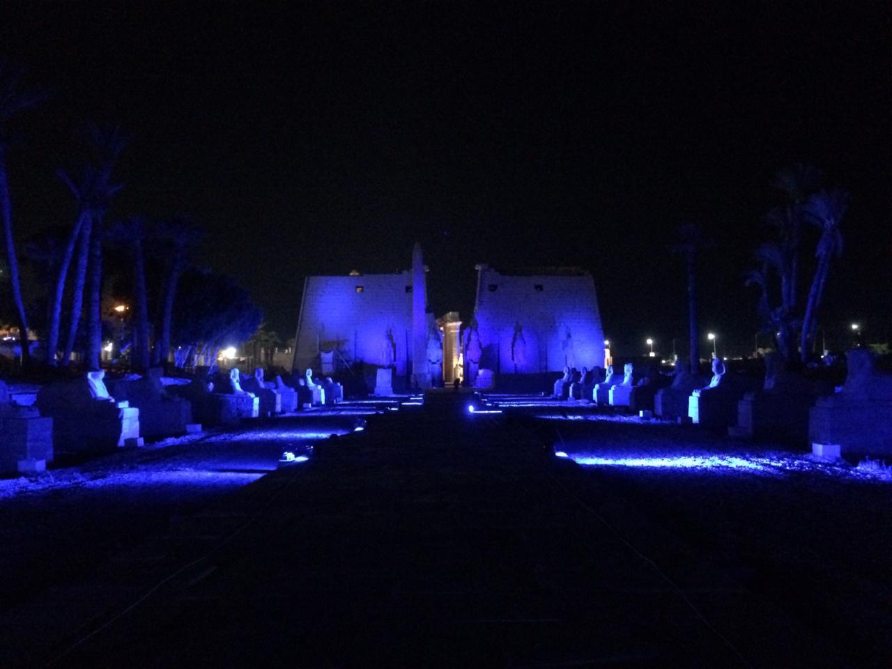 إضاءة معبد الأقصر وطريق الكباش (7)