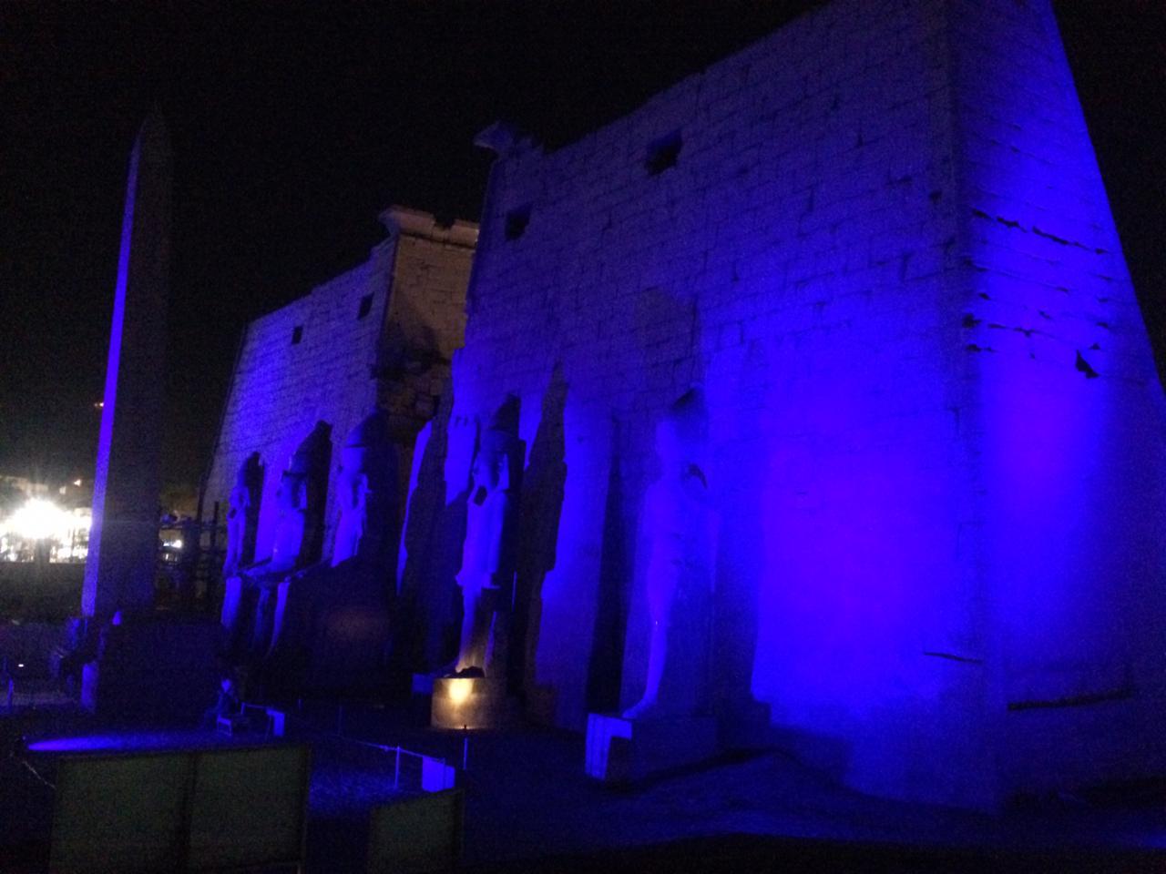 إضاءة معبد الأقصر وطريق الكباش (4)