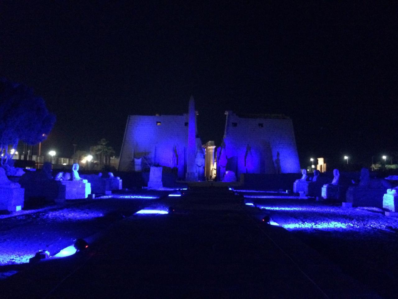 إضاءة معبد الأقصر وطريق الكباش (6)