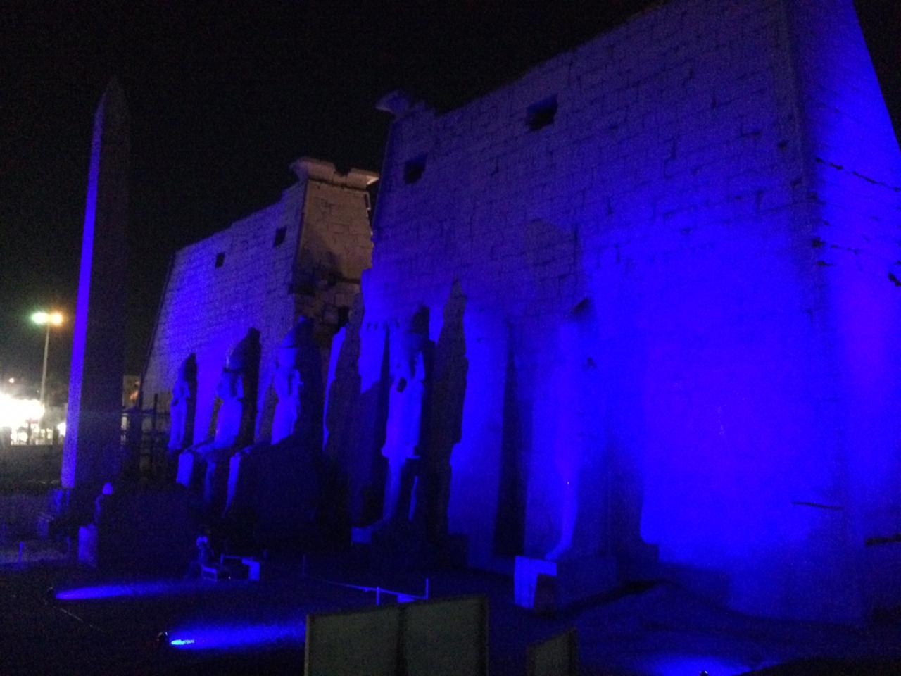 إضاءة معبد الأقصر وطريق الكباش (5)