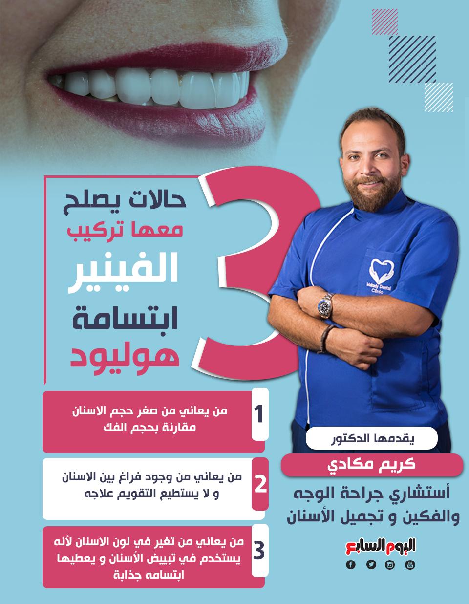 مش مجرد ابتسامة تعرف على وظيفة هوليود سمايل فى علاج الأسنان مع دكتور كريم مكادى اليوم السابع