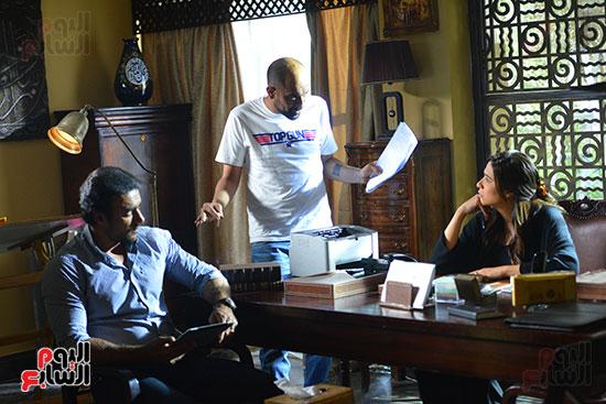 اليوم السابع فى كواليس مسلسل ياسمين عبد العزيز لآخر نفس (17)