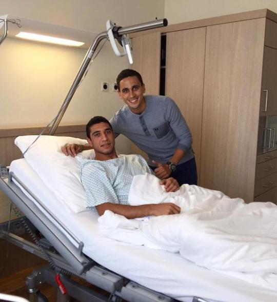 رامى ربيعه في المستشفى