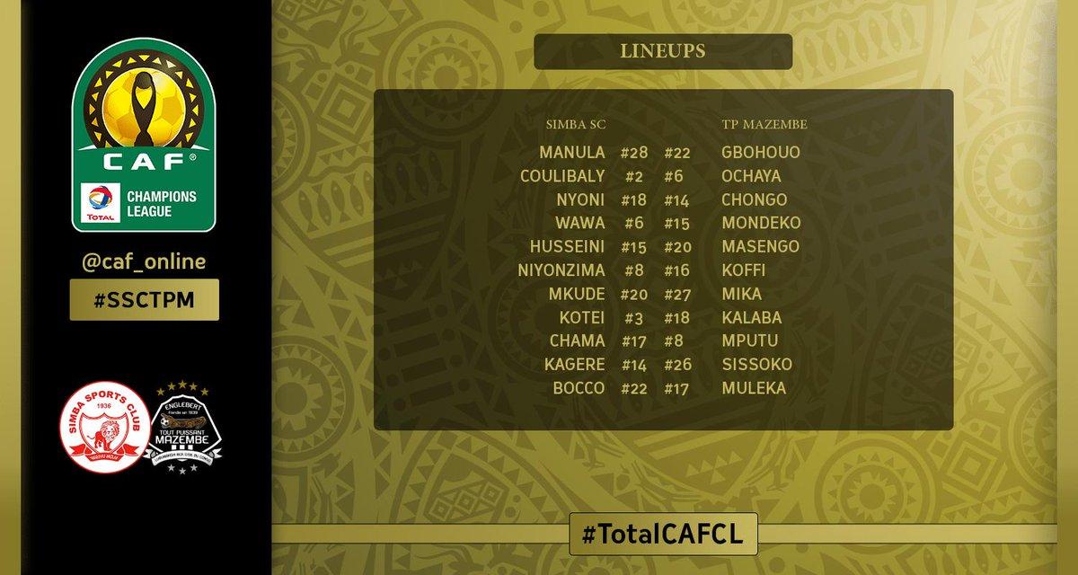 التشكيل لمباراة سيمبا ضد مازيمبي