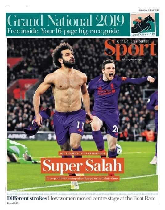 غلاف صحيفة التيلجراف