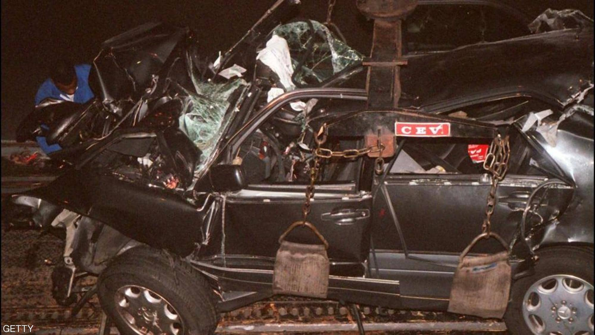 سيارة الأميرة ديانا بعد الحادث
