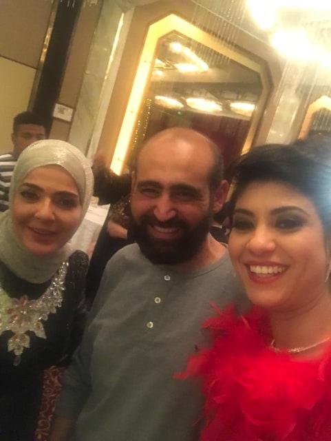 لميا كرم ومنى عبد الغنى والمخرج إبراهيم فخر
