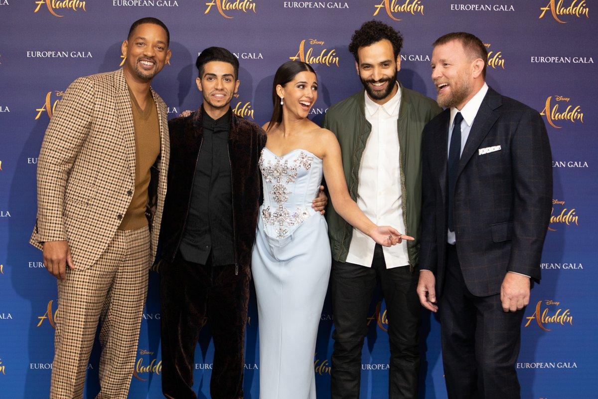 ويل سميث ومينا مسعود يروجون لفيلمهما الجديد Aladdin فى لندن