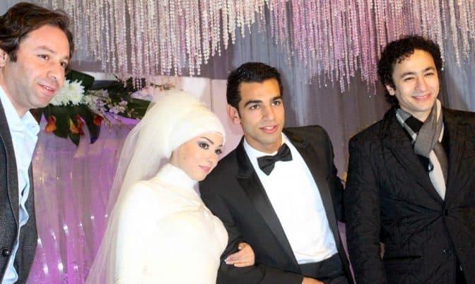 صلاح وماجي تزوجا في 2013