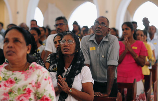 انطلاق أول صلاة بكنيسة فى سريلانكا بعد هجمات عيد الفصح (1)