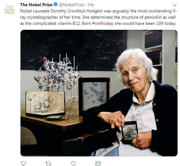 نوبل تحتفى بميلاد دوروثى مارى هودجكن