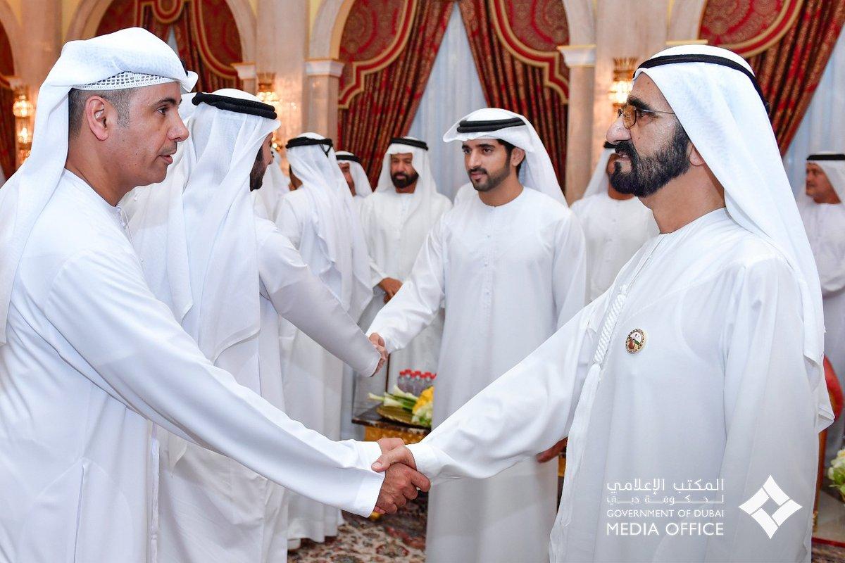 استقبال حاكم دبي وولى عهد دبي للضيوف