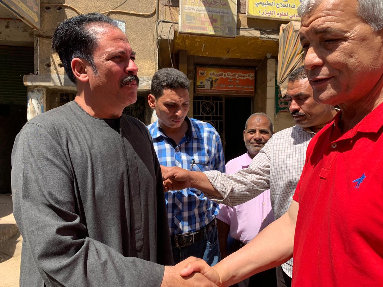 العمدة عبد الصمد زهران يرحب المحافظ
