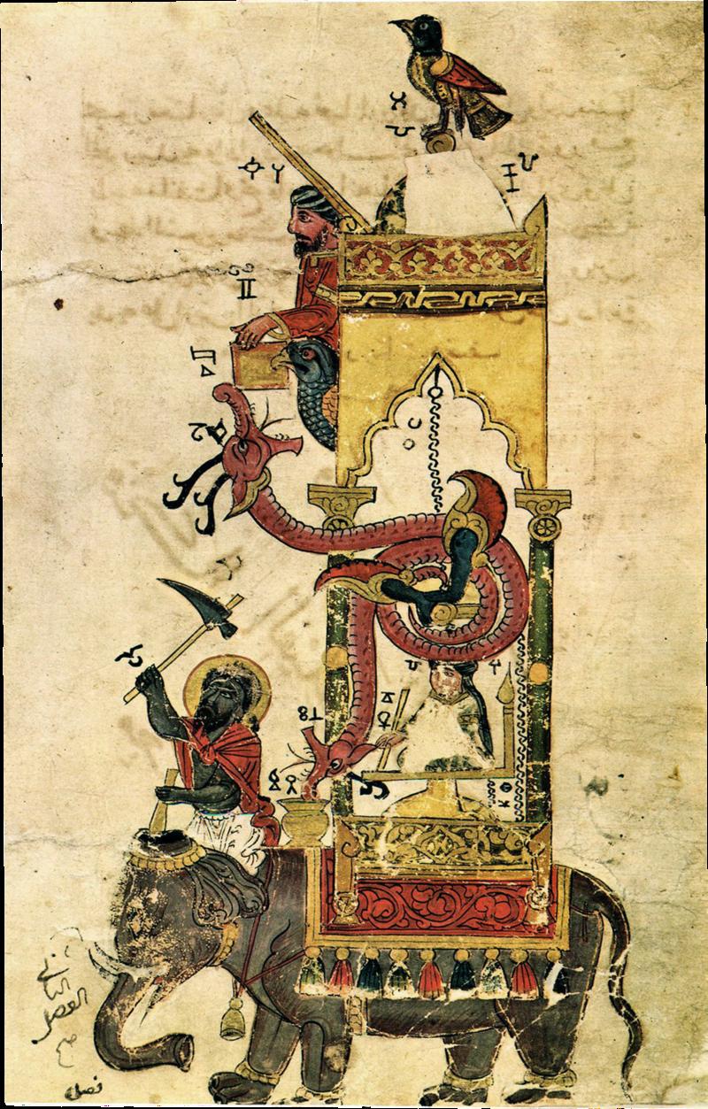 2267469 800px Al jazari elephant clock الجزري .. أول من ابتكر الروبوت لخدمة المسلمين