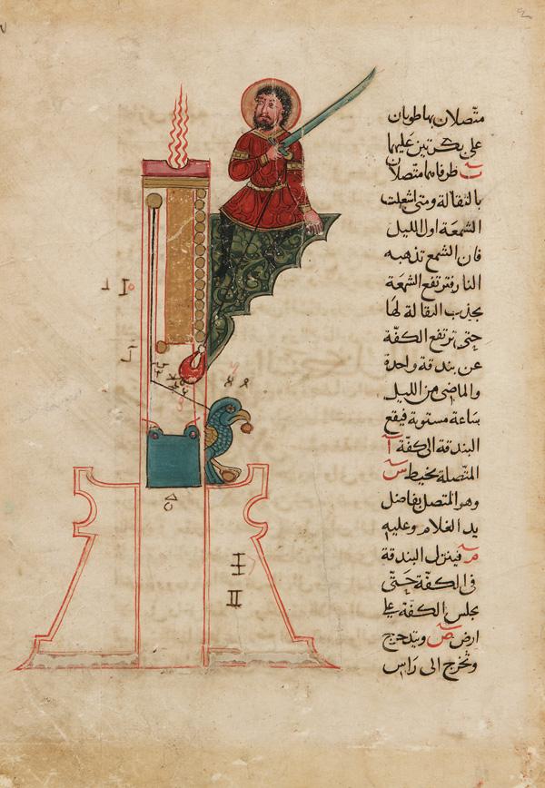 231486 Al Jazari   A Candle Clock الجزري .. أول من ابتكر الروبوت لخدمة المسلمين
