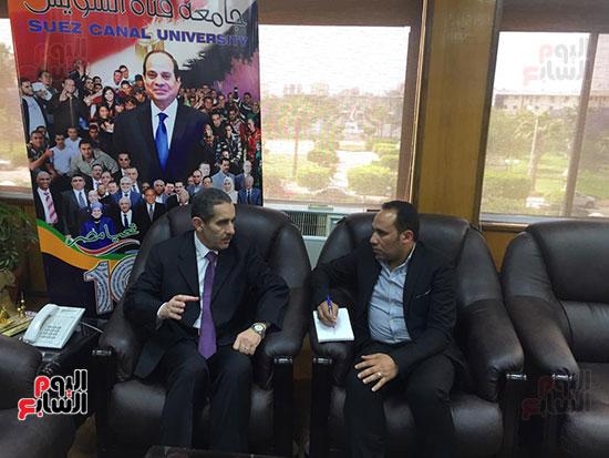 حوار-الزميل-السيد-فلاح-مع-رئيس-جامعة-قناة-السويس-(2)