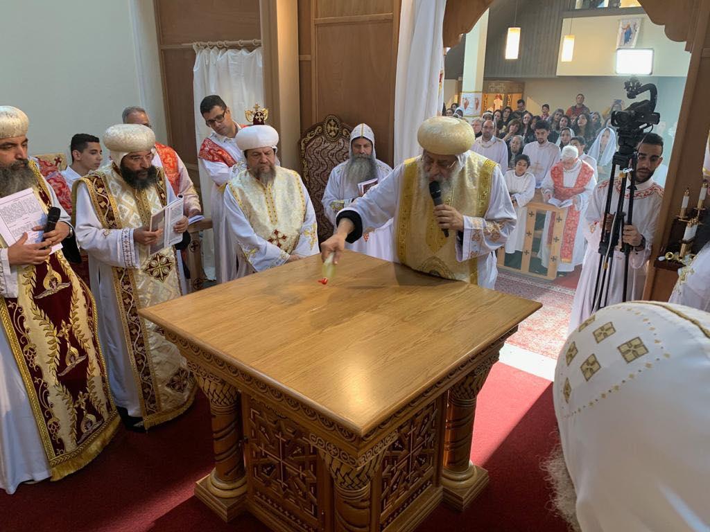 البابا تواضروس يدشن كنيسة العذراء والقديسة فيرينا بالعاصمة السويسرية زيورخ (2)