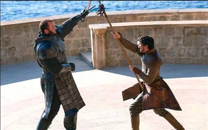 مشهد قتال ذا ماونتن مع أوبرين مارتيل