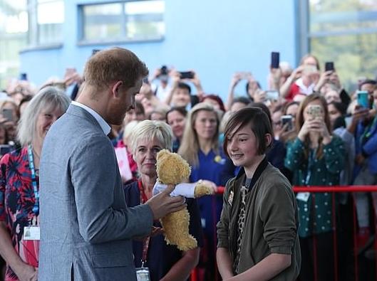 الأمير هارى يمسك الدمية