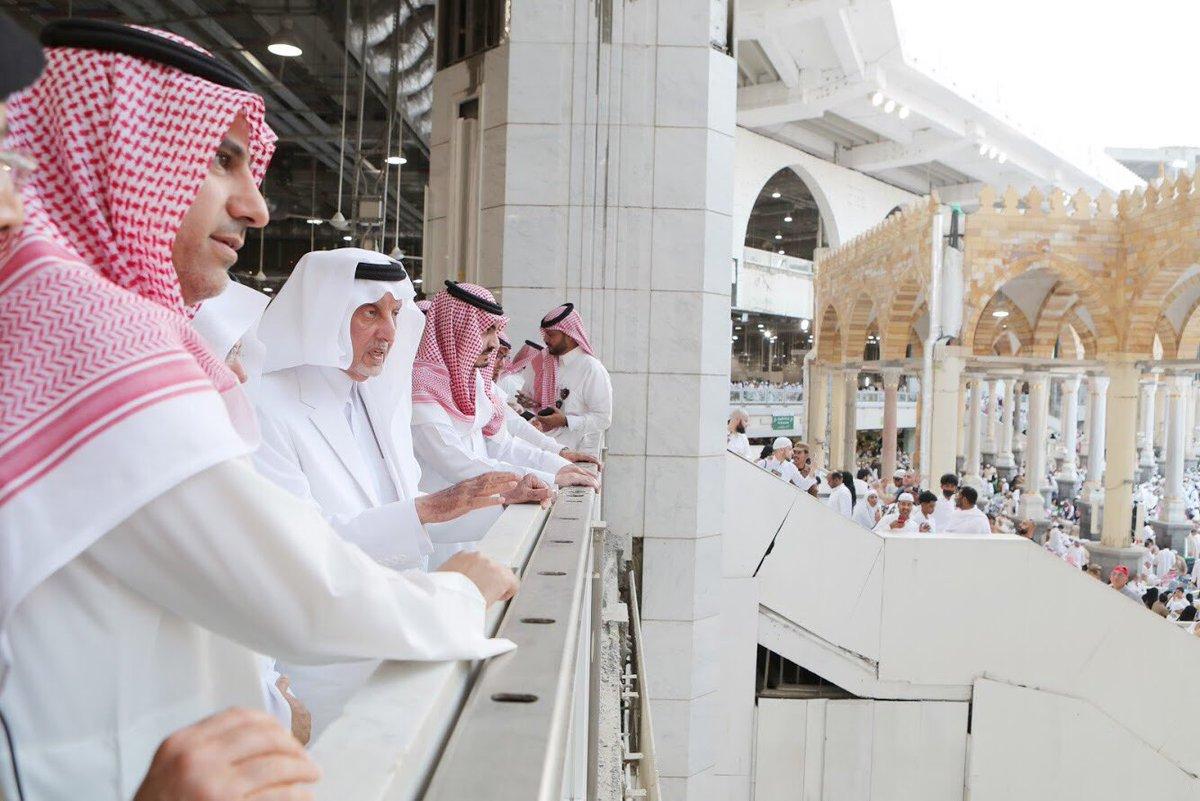 أمير مكة ونائبه يتفقدان المسجد الحرام بمشاركة الرئيس العام (2)