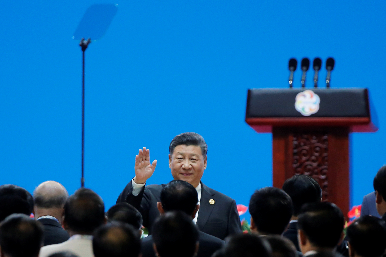 الرئيس الصينى يحيى الحضور فى مؤتمر حوار الحضارات