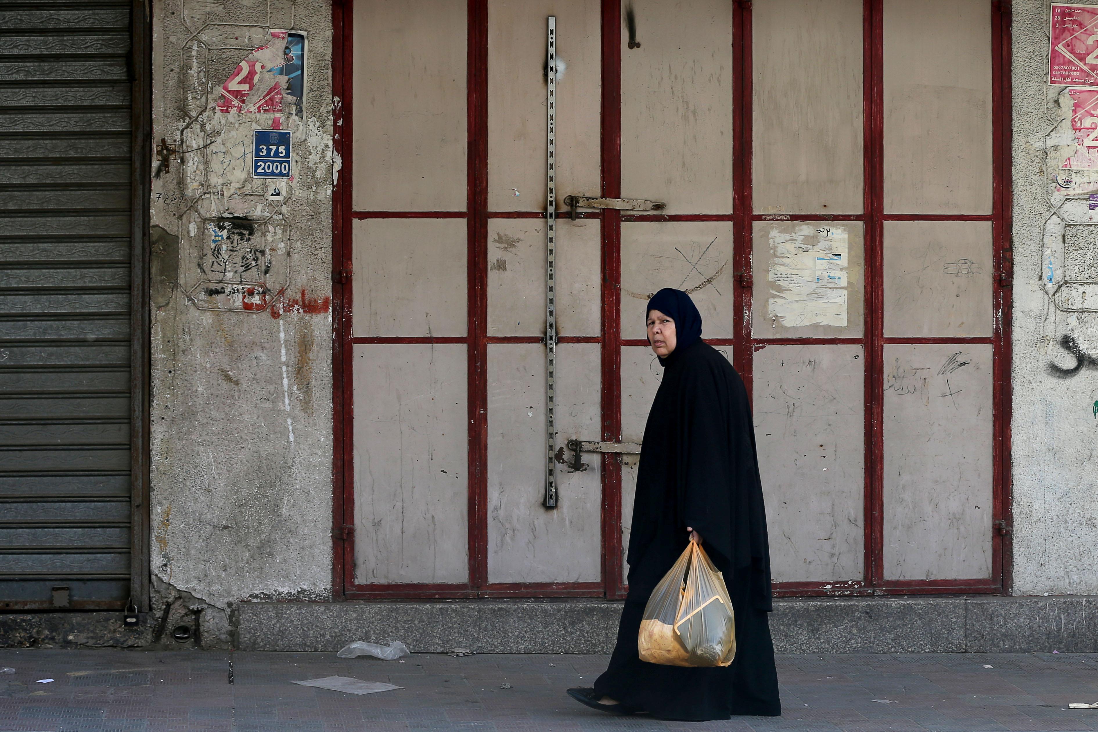 المحال التجارية تغلق أبوابها فى غزة