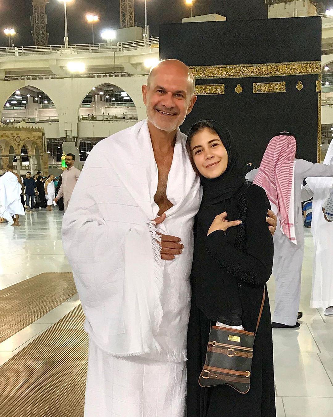 ملك مع والدها محمد قورة