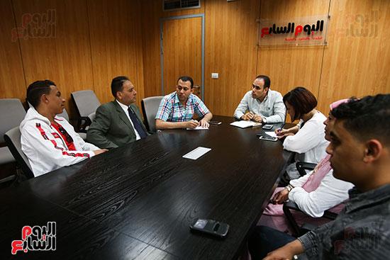 الكاتب الصحفي خالد صلاح رئيس مجلس إدارة وتحرير اليوم السابع، البطل المصري رامى شحاتة (3)