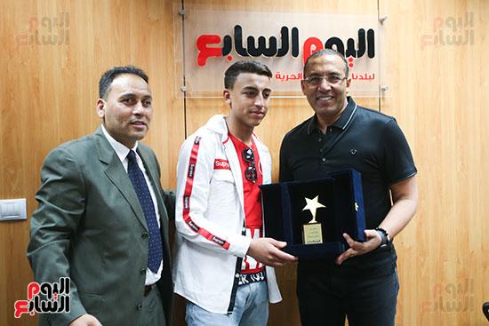 الكاتب الصحفي خالد صلاح رئيس مجلس إدارة وتحرير اليوم السابع، البطل المصري رامى شحاتة (4)