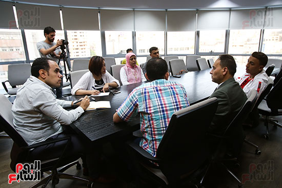 الكاتب الصحفي خالد صلاح رئيس مجلس إدارة وتحرير اليوم السابع، البطل المصري رامى شحاتة (2)