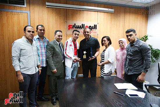 الكاتب الصحفي خالد صلاح رئيس مجلس إدارة وتحرير اليوم السابع، البطل المصري رامى شحاتة (7)