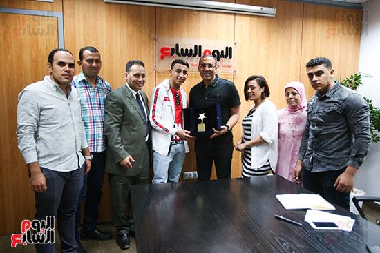 الكاتب الصحفي خالد صلاح رئيس مجلس إدارة وتحرير اليوم السابع، البطل المصري رامى شحاتة (6)
