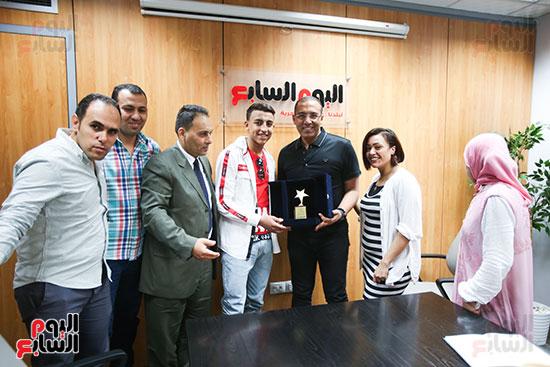 الكاتب الصحفي خالد صلاح رئيس مجلس إدارة وتحرير اليوم السابع، البطل المصري رامى شحاتة (5)