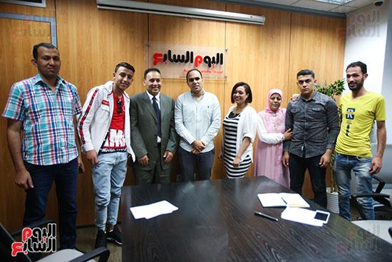 الكاتب الصحفي خالد صلاح رئيس مجلس إدارة وتحرير اليوم السابع، البطل المصري رامى شحاتة (9)