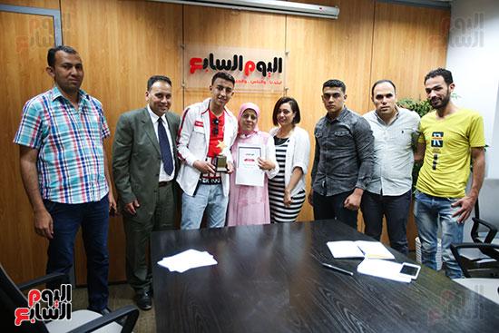 الكاتب الصحفي خالد صلاح رئيس مجلس إدارة وتحرير اليوم السابع، البطل المصري رامى شحاتة (10)