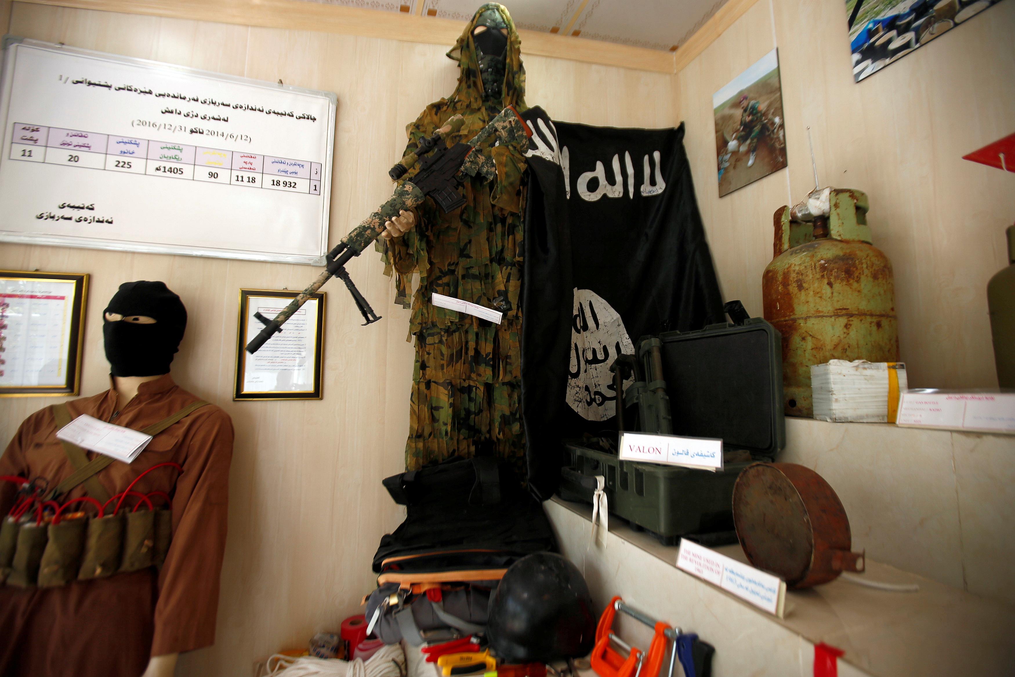 مقتنيات داعش داخل المتحف (4)