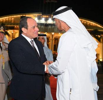 السيسى يودع محمد بن سلمان (2)