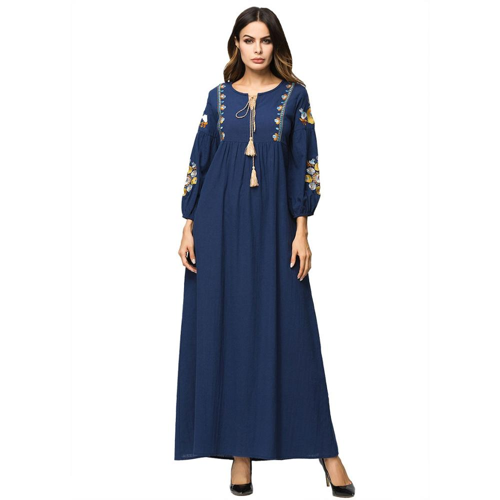 maxi-women-dresses-islamic-cotton-linen-embroidery