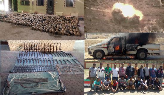 القوات المسلحة تعلن تدمير 227 عربة دفع رباعى تستخدمهم العناصر الإرهابية (1)