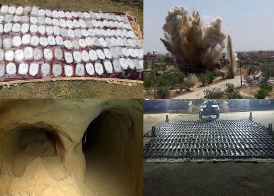 القوات المسلحة تعلن تدمير 227 عربة دفع رباعى تستخدمهم العناصر الإرهابية (3)