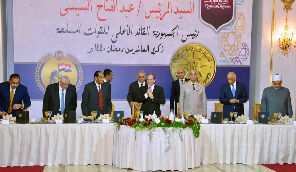الرئيس السيسى يشارك فى حفل الإفطار السنوى للقوات المسلحة (2)